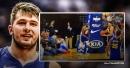Video: Mavs' Luka Doncic falls on a kid after hard drive