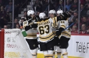 Who's playing for the Bruins vs. Buffalo?