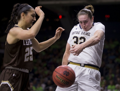 No. 2 Notre Dame gives McGraw wins 900th career victory