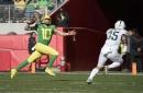 Herbert sparks Oregon past Michigan State 7-6 in Redbox Bowl
