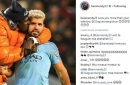Man City fans noticed something wrong in Benjamin Mendy tweet to Sergio Aguero