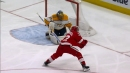 Andreas Athanasiou turns on the jets to speed by Predators and score
