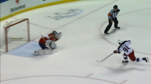 Anthony Duclair blows by Panthers' defense and scores