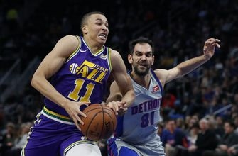 Jazz rally past Pistons, then hold on late for 110-105 win