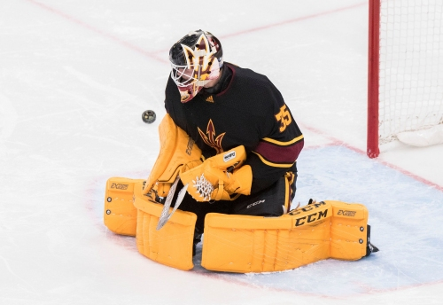 ASU goalie Joey Daccord makes 32 saves to shut out Boston College