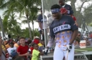 Lewis Brinson, Marlins prospects Monte Harrison, Anfernee Seymour compete in Home Run Derby in Paradise
