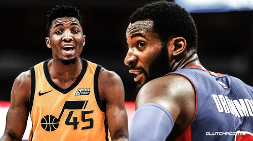 Donovan Mitchell says trash talk was directed at heckling fan, not Andre Drummond