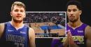 Video: Mavericks' Luka Doncic drops a step-back 3-pointer on Lakers' Josh Hart