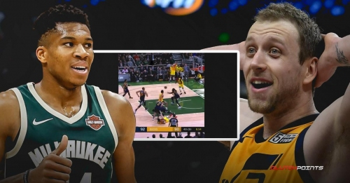 Video: Bucks' Giannis Antetokounmpo gets away with blatant grab on Joe Ingles' leg