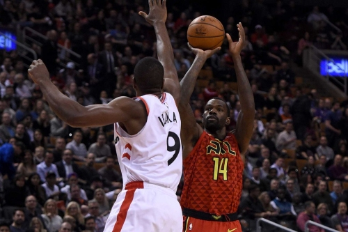 Hawks fall in tight road contest in Toronto, 104-101