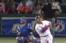 Willians Astudillo hits clutch home run from his knee in Venezuelan Winter League