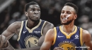 Warriors star Steph Curry throws no-look pass to Kevon Looney for huge dunk
