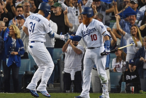 Justin Turner, Joc Pederson Participating In California Strong Celebrity Softball Game Organized By Christian Yellich, Ryan Braun, Mike Moustakas & Jared Goff