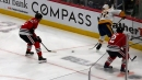 Fiala makes amazing blind pass to Sissons to score