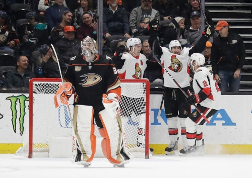 Senators edge Ducks in OT to snap 8-game losing streak