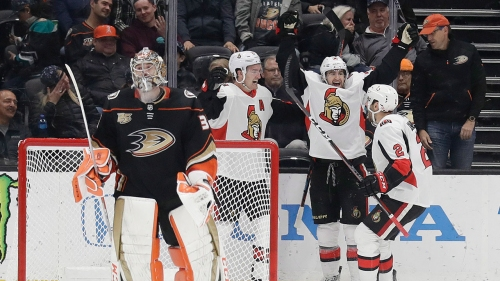 Senators snap 8-game skid with OT win over Ducks