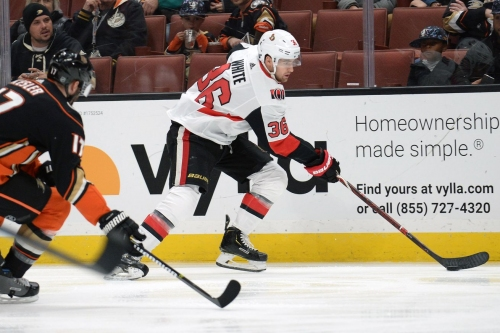 White Ends Sens' Losing Streak in OT