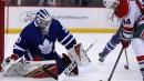 Michael Hutchinson's 27 saves lead Maple Leafs past Devils