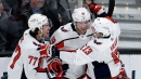 Backstrom helps Caps win 14th straight over Bruins