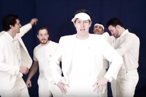 """Watch: Slater Koekkoek lip syncing """"Love Shack"""" and """"I Want It That Way"""""""