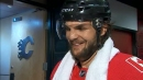 Michael Frolik touches on his energetic goal celebrations