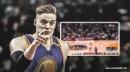 Video: Warriors' Jonas Jerebko sinks buzzer-beater way past halfcourt