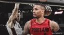 Video: Blazers' Damian Lillard issues long pass for Jake Layman alley-oop