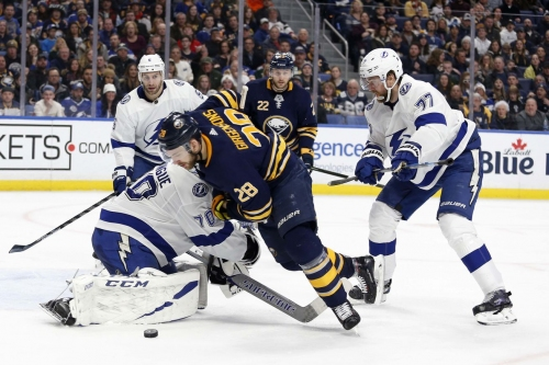 Recap: Sabres squander lead, playoff standing in loss to Lightning