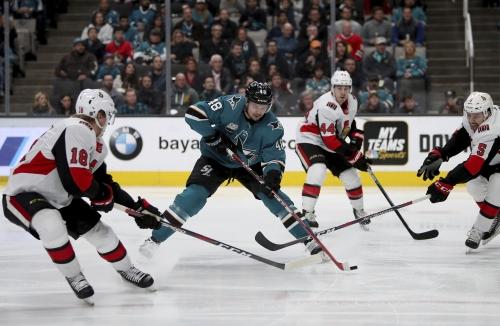 Sharks get Erik Karlsson a win in rematch with Senators