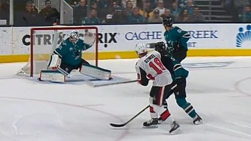 Dzingel answers for Senators vs. Sharks