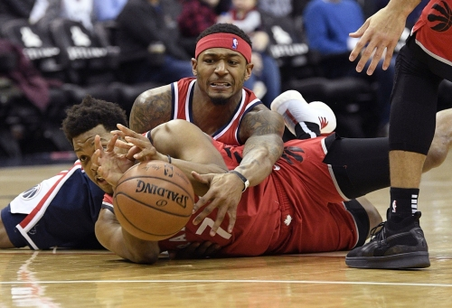 Raptors outlast Wizards 140-138 in 2 OT for 5th win in row
