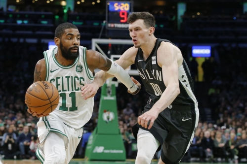 Celtics, with Kyrie Irving hot (as in mad), arrive in Brooklyn