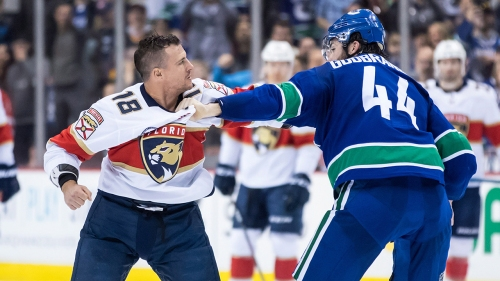 Canucks display grit, skill in lively showdown vs. Panthers