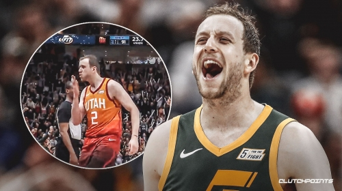 Video: Jazz's Joe Ingles blows a kiss to Pistons fan after dagger 3-pointer