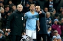 Man City defender Kyle Walker reacts to being dropped by Pep Guardiola