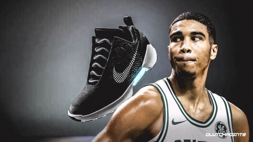 Celtics' Jayson Tatum will be first to sport Nike's self-lacing shoes in a game