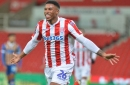 Stoke City fans hail Tyrese Campbell after his first-half double against Shrewsbury