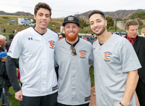 California Strong Celebrity Softball Game: Justin Turner Joins Ryan Braun, Christian Yelich, Mike Moustakas And Other Athletes & Celebrities In Providing For Community