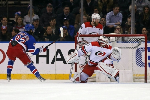 Canes fall flat, get blown out by Rangers at MSG