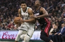 Giannis Antetokounmpo posts triple-double as Heat's offense sputters in blowout loss to Bucks