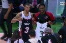 Dwyane Wade swaps jersey with George Hill continuing his One Last Dance