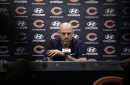 Chicago Bears Head Coach Matt Nagy answers questions during a press conference Monday, Jan. 14, 2019, at Halas Hall in Lake Forest, Ill.