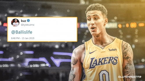 Kyle Kuzma gets roasted for tweeting with Lakers game ongoing