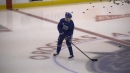 Elias Pettersson skates solo, ramps it up before Canucks practice
