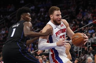 Griffin scores 30, leads Pistons past Magic 120-115 in OT