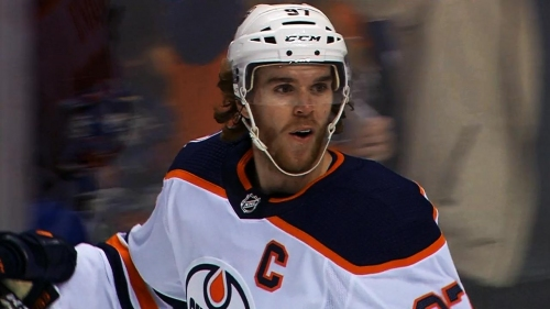 Connor McDavid uses defender as screen, fires wrist shot past Jacob Markstrom