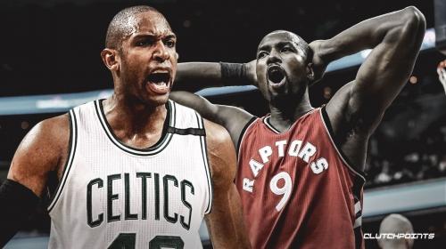 Video: Celtics' Al Horford stares down Raptors' Serge Ibaka after massive poster slam