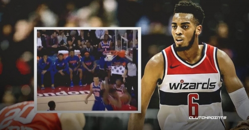 Video: Wizards' Troy Brown puts Knicks' Frank Ntilikina on a poster