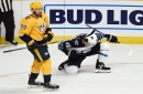 Lemieux scores twice as Jets top Preds to strengthen Central lead