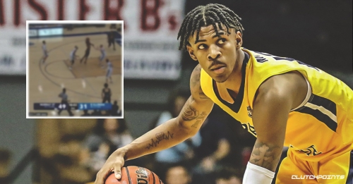 Video: Projected 2019 NBA top five pick Ja Morant takes flight from near the free throw for insane dunk